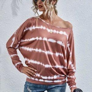 Size M/MEDIUM New Women's TIE DYE Top Pullover